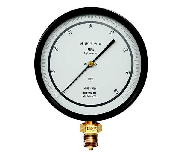 yb150 0~80mpa 精密压力表参数 测量范围: 0~80mpa 精度等级: 0.